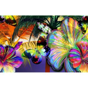 Fototapeta Colorful butterflies papír 254 x 184 cm