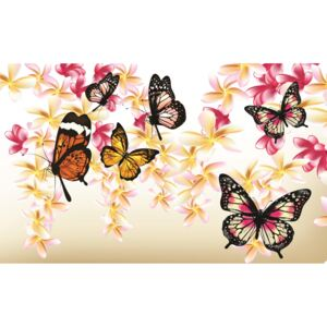 Fototapeta Butterflies on the tree vlies 208 x 146 cm