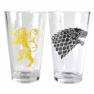 Half Moon Bay Sklenice Game of Thrones - Stark & Lannister (2 ks) 450ml