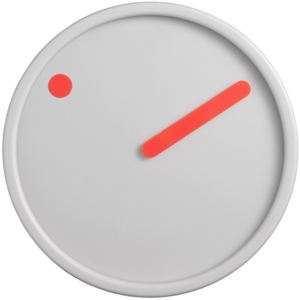 PICTO Picto Clock - Orange on Light Grey + dárek zdarma