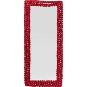 KARE DESIGN Zrcadlo Rose Rectangular Red 180×80 cm