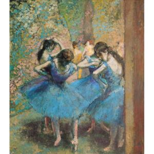 Obraz, Reprodukce - Dancers in blue, 1890, Edgar Degas