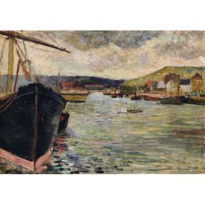 Obraz, Reprodukce - Port at Rouen, Paul Gauguin