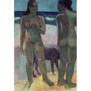 Obraz, Reprodukce - Two Tahitian Women on the Beach, 1891, Paul Gauguin