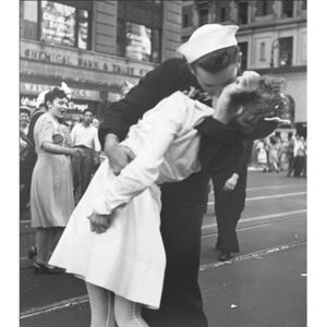 Obraz, Reprodukce - New York - Kissing The War Goodbye at The Times Square, 1946, LT. VICTOR JORGENSEN, (60 x 80 cm)