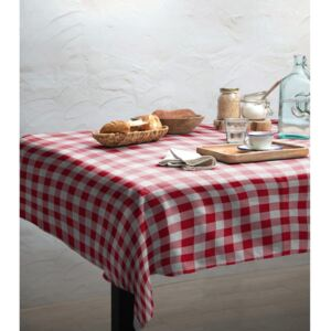 Ubrus Linen Couture Red Vichy, 140 x 140 cm