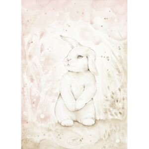 COTTON & SWEETS Plakát Lovely Rabbit, 18x24 cm
