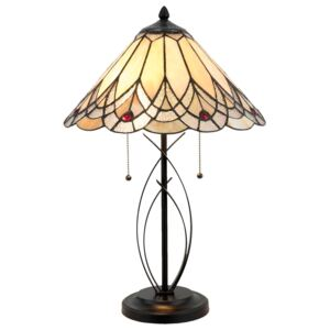 Stolní lampa Tiffany Peaceful - 40*60 cm 2x E27/60W Clayre & Eef
