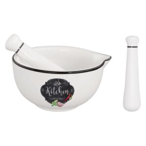 Easy Life Porcelánový hmoždíř Kitchen Basic R1607-KIBK