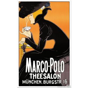 Marco Polo Thee Salon - Vintage Advertising Poster