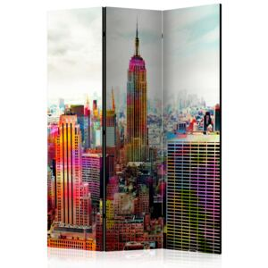 Artgeist Paraván - Colors of New York City [Room Dividers] 135x172