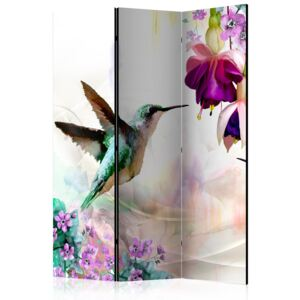Artgeist Paraván - Hummingbirds and Flowers [Room Dividers] 135x172