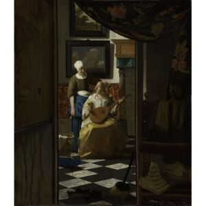 Obraz, Reprodukce - The Love Letter, c.1669-70, Jan (1632-75) Vermeer