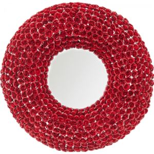 KARE DESIGN Zrcadlo Rose Red O100 cm