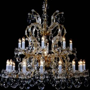 24 flames Maria Theresa crystal chandelier with Pendeloques