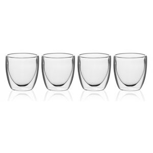 Lunasol - Pohár BASIC Glas Double Wall 80 ml - set 4 ks (321229)
