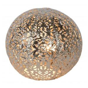 LUCIDE PAOLO Table Lamp G9/28W 14.5cm Silver, stolní lampa
