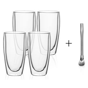 Lunasol - Pohár BASIC Glas Double Wall 330 ml - set 4 ks (321230)