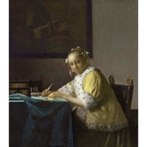 Obraz, Reprodukce - A Lady Writing, c. 1665, Jan (1632-75) Vermeer