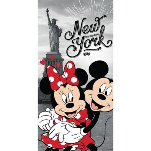 TOP Osuška 70x140 Mickey & Minnie v NY