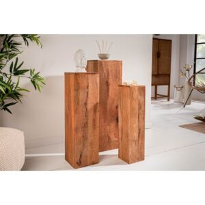 Dekorativní sloup Timber mango - set 3 ks