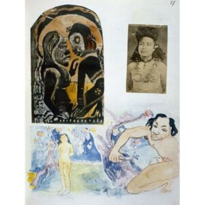 Obraz, Reprodukce - Illustrations from 'Noa Noa, Voyage a Tahiti', published 1926, Paul Gauguin