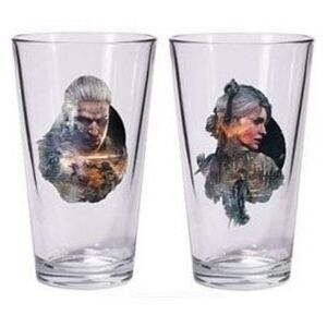 Dark Horse Comics Sklenice The Witcher 3 - Geralt and Ciri 500ml