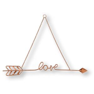 Kovová dekorace Love Story Rose Gold Metal Art 104031, Wall Art, Graham Brown
