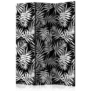 Paraván - Black and White Jungle [Room Dividers]