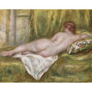 Obraz, Reprodukce - Reclining Nude from the Back, Rest after the Bath, c.1909, Pierre Auguste Renoir