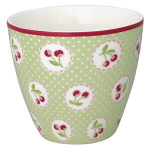 Latte cup Cherry Berry Pale Green