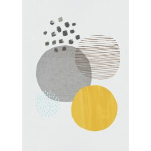 Ilustrace Abstract mustard and grey, Laura Irwin