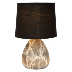 LUCIDE MARMO Table lamp E14/40W Black stolní lampa