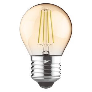 Diolamp Retro LED žárovka Ball Gold 5W/400lm/E27/Step Dim