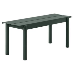 Muuto Lavice Linear Steel Bench 110 cm, dark green
