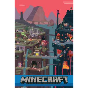 Plakát, Obraz - Minecraft - world, (61 x 91,5 cm)