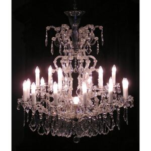 18 flames Silver Maria Theresa crystal chandelier with crystal Pendeloques