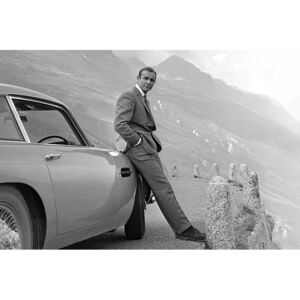 Plakát, Obraz - James Bond - Connery Aston Martin, (91,5 x 61 cm)