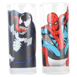 Half Moon Bay Sklenice Marvel - Spider-Man a Venom (2 ks) 300ml