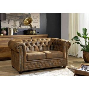 Askont R Pohovka 2M brown Chesterfield Oxford