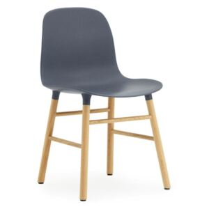 Normann Copenhagen Židle Form, blue/oak