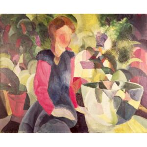 Obraz, Reprodukce - Girl with a Fish Bowl, 20th century, August Macke