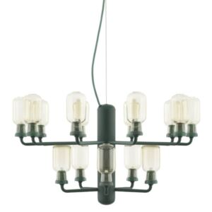 Normann Copenhagen Lustr Amp Chandelier Small, gold/green