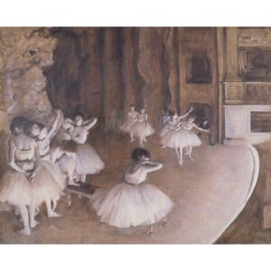 Obraz, Reprodukce - Ballet Rehearsal on the Stage, 1874, Edgar Degas