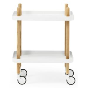 Normann Copenhagen Servírovací stolek Block Table, white
