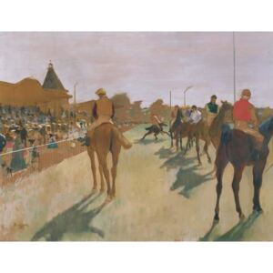Obraz, Reprodukce - The Parade, or Race Horses in front of the Stands, c.1866-68, Edgar Degas