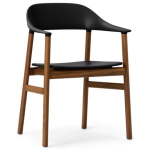 Normann Copenhagen Židle Herit Armchair Smoked Oak, black