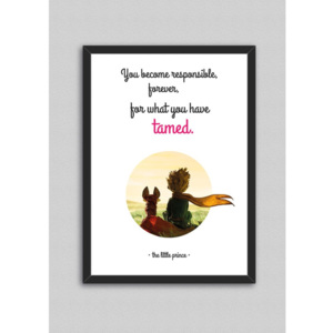 Obraz North Carolina Scandinavian Home Decors Little Prince Quote V8, 33 x 43 cm