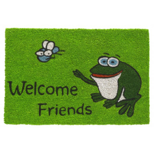 Vopi Rohožka 147 Ruco print 412 Welcome friends frog 412 Welcome friends frog