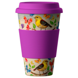 Eco Bamboo Cup Birds 400 ml